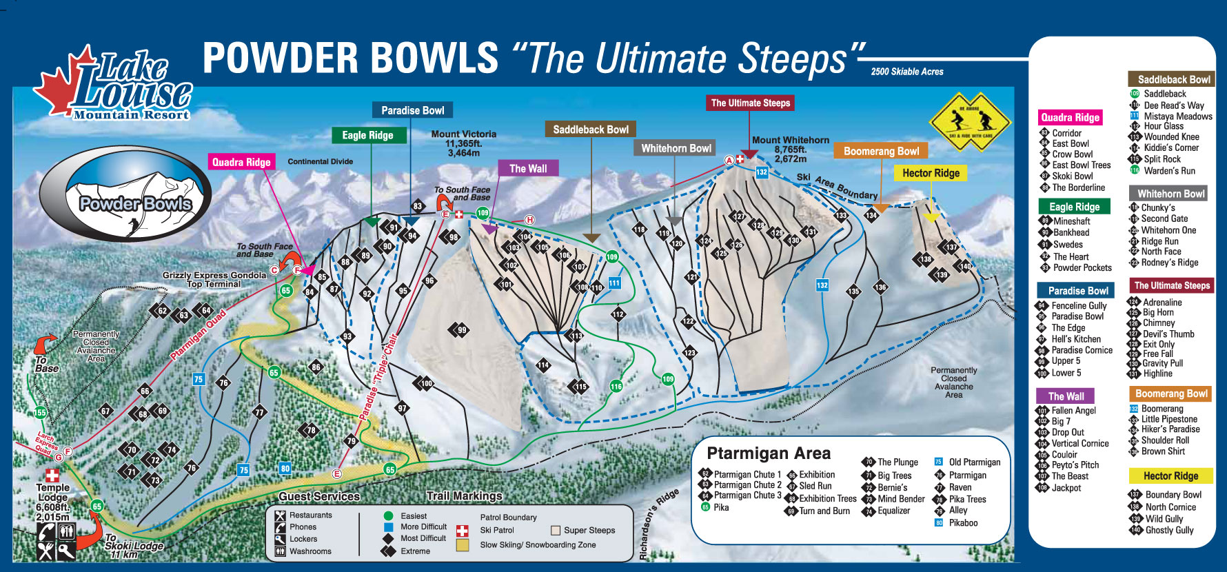 Ski Lake Louise Canada Ski Resort Information Ski Resort - Western us ski resorts map